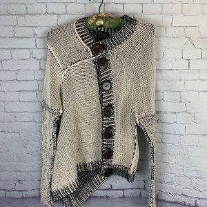 Pure Handknit Asymmetrical Hem Cardigan M/L